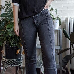 Mossimo Supply Co Black Skinny Jeans Zipper Pocket